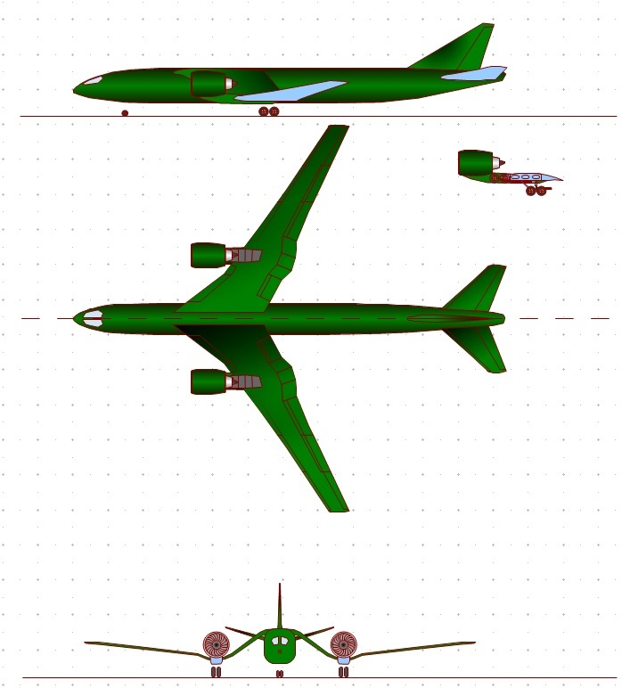 пример самолета, скомпонованного по варианту 4